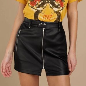 TOBI faux leather skirt